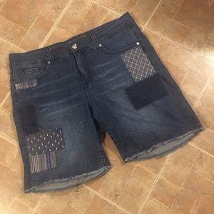 Melissa McCarthy Seven7 jean shorts size women 14W